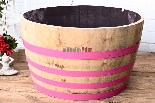 Blumenkübel aus 1/2 500 l Fass - Think Pink