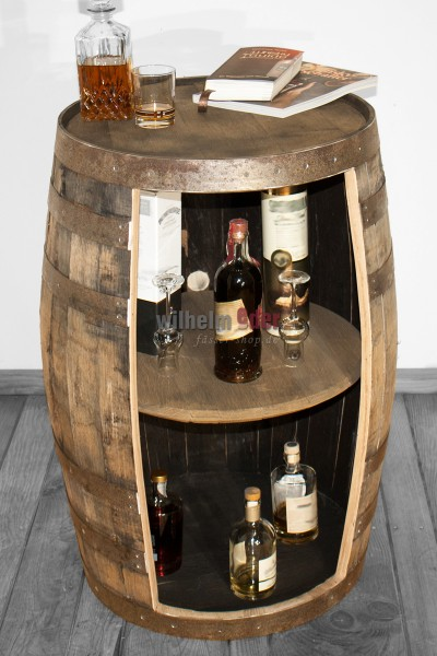 Regalfass aus Bourbonfass 190 l natur