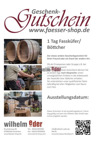 Gutschein - 1 Tag Fassküfer/Böttcher