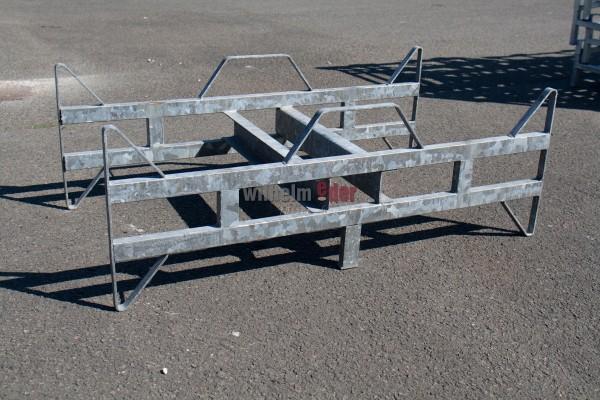 Fasslager Bodenstück aus feuerverzinktem Metall für 2 Fässer 300 l - Sale