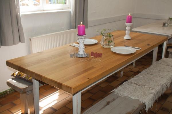 Tischplatte aus Eichenholz – eckig