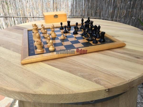 Robinienholzplatte - rund 80 cm; Stärke 35 mm