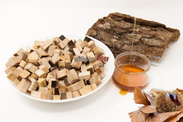 Cubes aus Kastanienholz